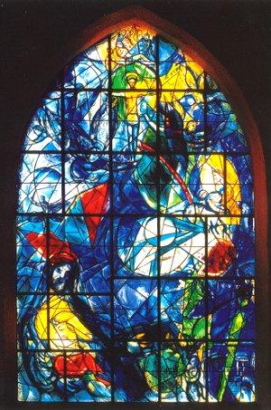 Vitrail Chagall à l'Union Church de Pocantico Hills.