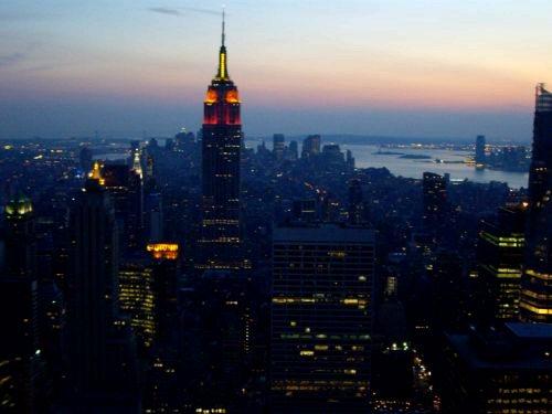 L'Empire State Building vu du top of the rocks la nuit