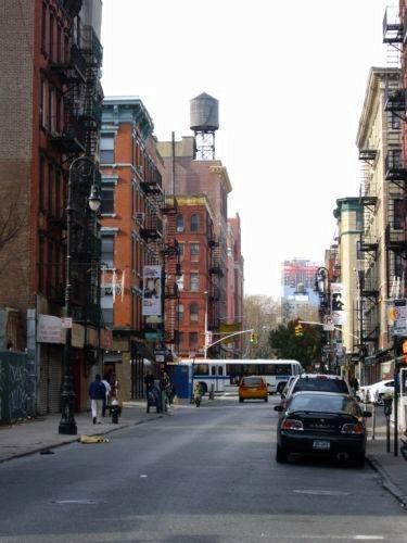 Vue d'une rue de l'East Side