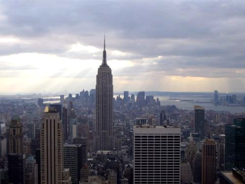 L'Empire State Building vu du top of the rocks