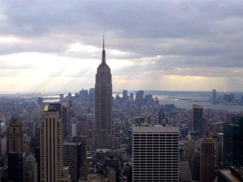 L'Empire State Building vu du top of the rocks