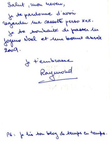 Carte de voeux de Raymond