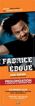 Fabrice Eboué au théâtre Comedy Club