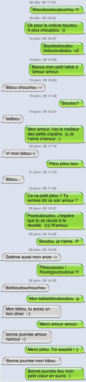 Florilège de sms entre chérichou et moi