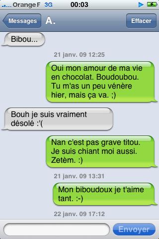 Une grave engueulade par sms !! :)