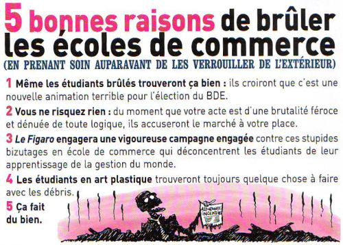 blague ecole de commerce