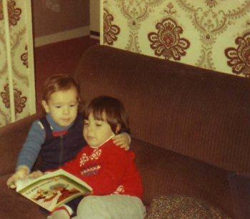 Moi et Jérôme en 1978