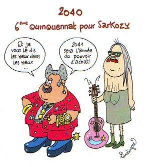 """""""Sarkozy en 2040"""" par Lindingre - Fluide Glacial Série Or N°46"""