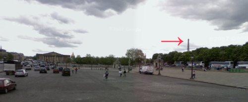 Vue de la Tour Eiffel de la Concorde