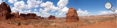 Arches National Park - Panorama de l'entrée du Parc