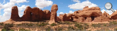 Arches National Park - Panorama avec la Double Arch