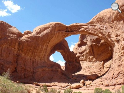 Arches National Park - Détail de la Double Arch