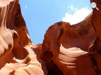 Lower Antelope Canyon - vue du ciel