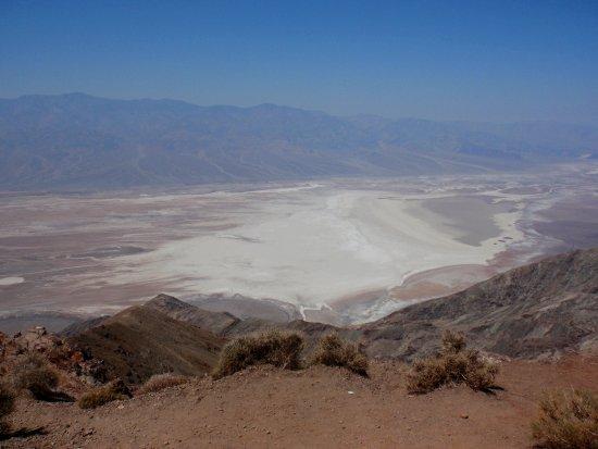 Bad Water, vu de Dante's View - Vallée de la Mort