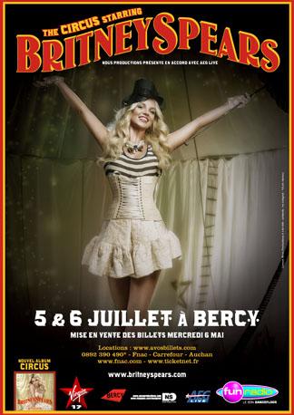 Britney Spears et son « Circus Tour » à Bercy