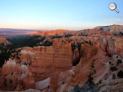 Bryce Canyon - Au coucher du soleil.