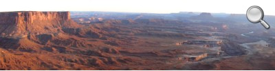 Canyonlands National Park - Vue sur la Green River (le soir)
