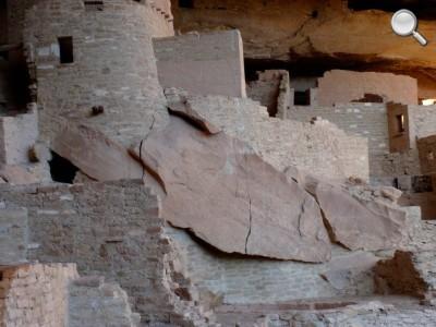 Mesa Verde National Park - détail d'un mur de Cliff Palace
