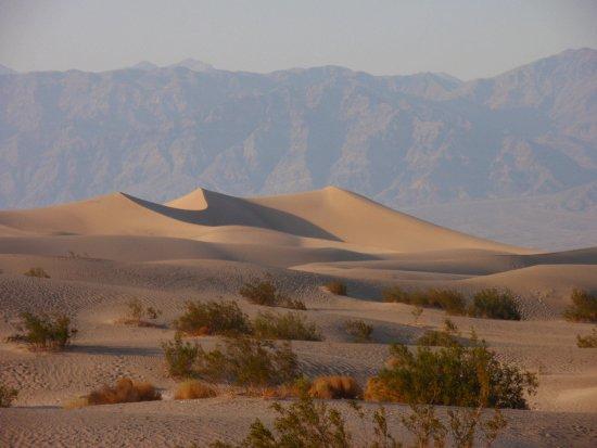Les Dunes de sable à côté de Stovepipe Wells