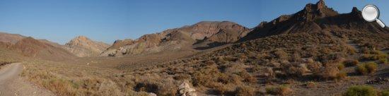 Entrée du Titus Canyon - Vallée de la Mort