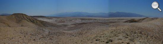 Panorama classique de la Vallée de la Mort