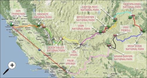 Plan de notre roadtrip