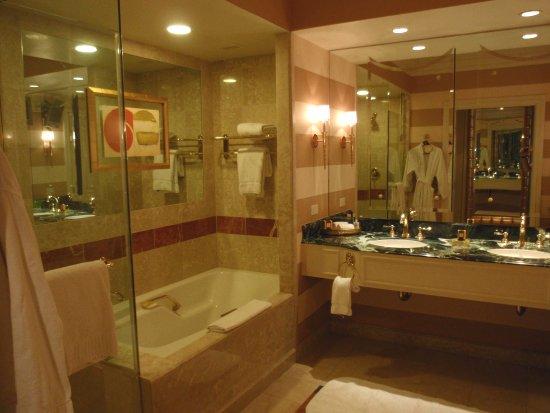 Vue de la salle de bain de la chambre au Venetian - Las Vegas