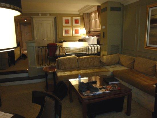 Vue du salon de la chambre au Venetian - Las Vegas