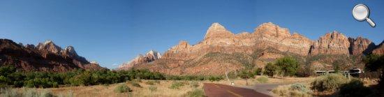 Panorama de l'entrée du Zion National Park