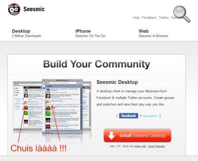 Capture d'écran Seesmic