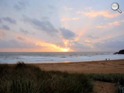 Coucher de Soleil sur la plage de Bellangenet - Le Pouldu