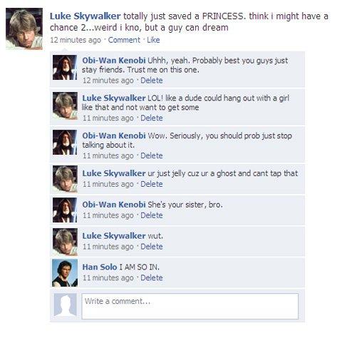 Star Wars sur Facebook