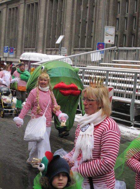 Grenouilles au carnaval de Cologne