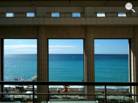 Vue de la chambre à Nice