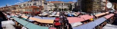 Vue panoramique du marché du vieux Nice