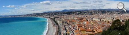 Vue de la baie de Nice de la colline du Château