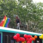 Sur le bus de la RATP pour la Gay Pride 2010