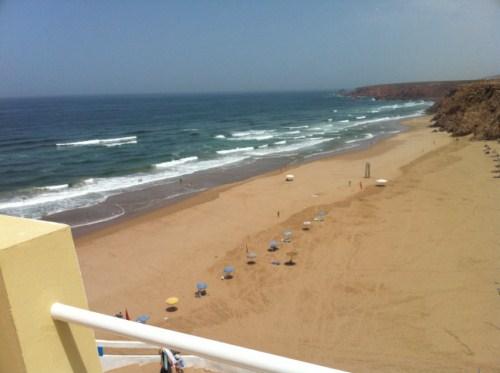 La plage vue de notre terrasse