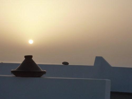 Soleil couchant à Mirleft