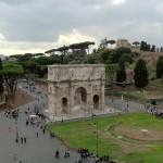 Arc de Constantin vu du Colisée