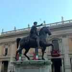 Statue équestre de Marc-Aurèle sur le Capitole