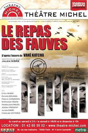 «Le repas des fauves» au Théâtre Michel