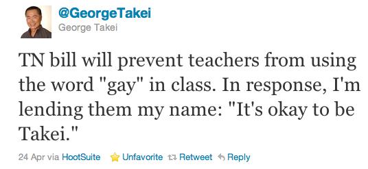 Citation Twitter de George Takei