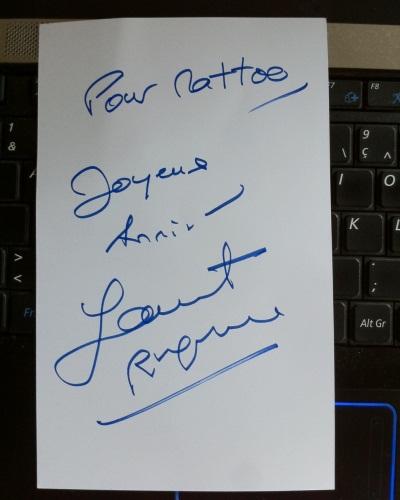 Autographe L. Ruquier