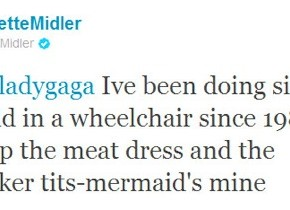 Bette Midler Vs Lady Gaga sur twitter