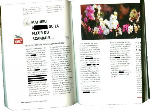 Extrait Paris Match - Mathieu B. ou la peur du scandale