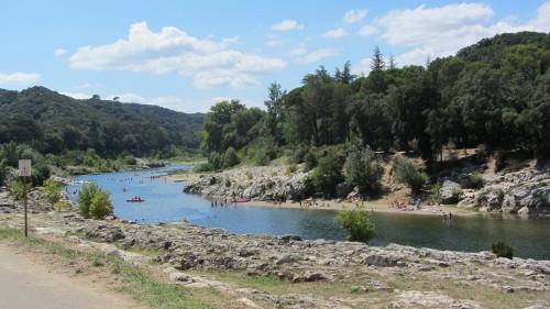 Vue du Gardon - Pont du Gard