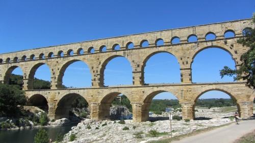 Vue globale Pont du Gard