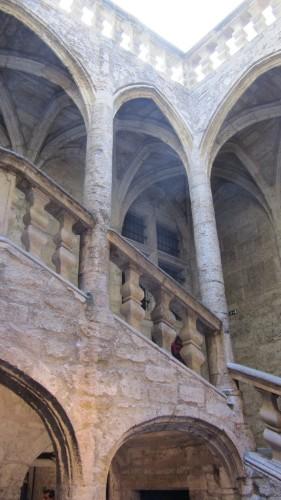 Escalier intérieur Renaissance à Pézenas