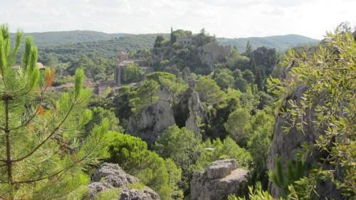Cirque de Mourèze - vue de la ville